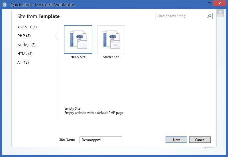 Appml Webmatrix