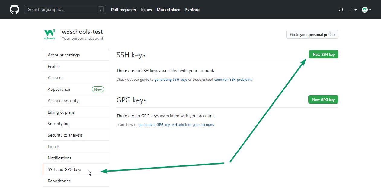 Git GitHub Add SSH