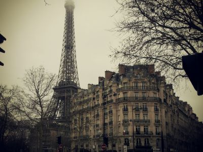old, tower, paris