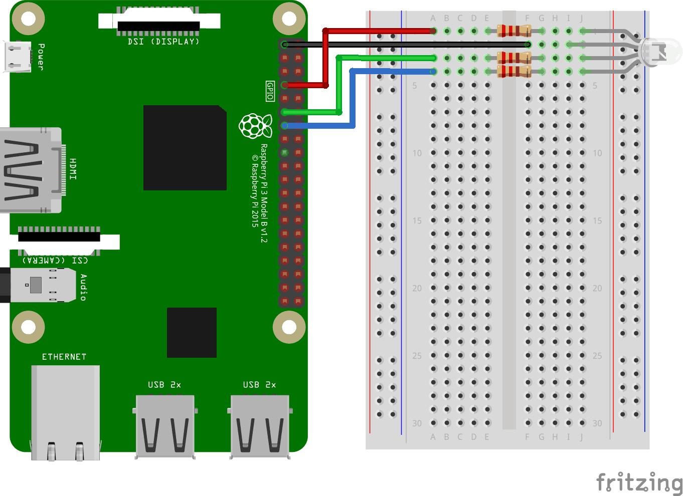 Node js Raspberry Pi RGB LED and WebSocket