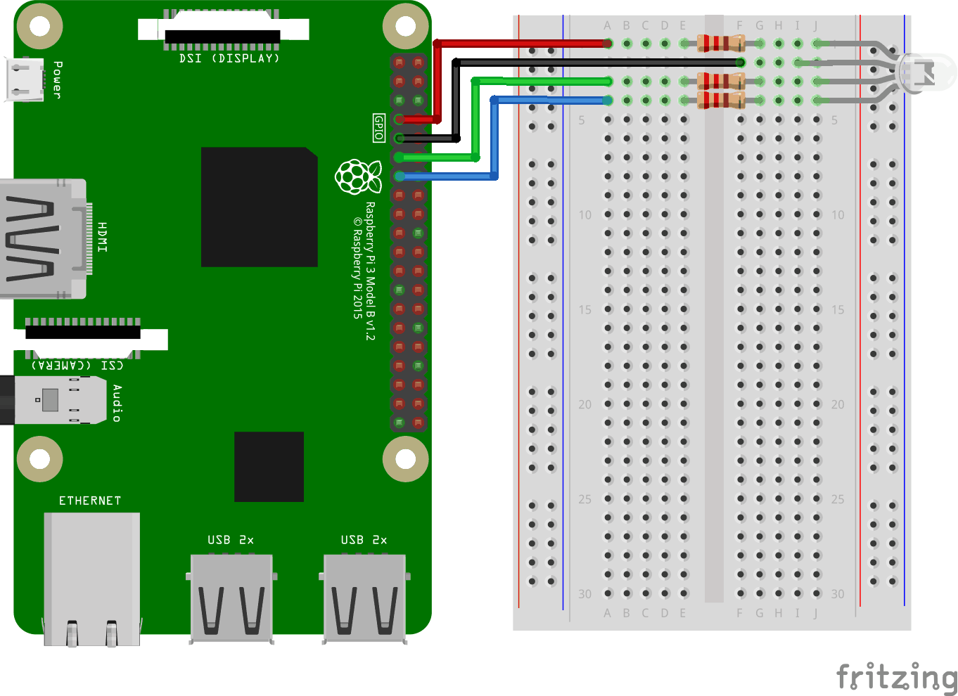 Node js Raspberry Pi RGB LED and WebSocket