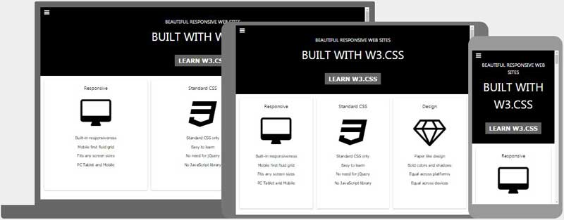 W3 css templates for Html table css template