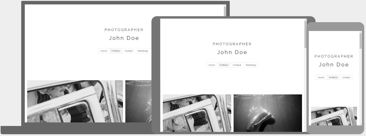 Black and White Photo Template