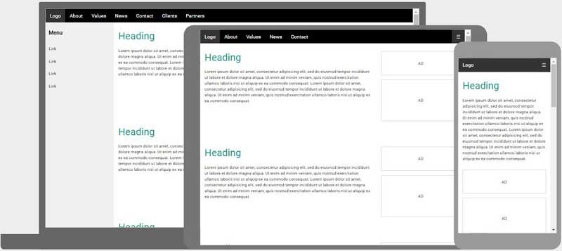 Responsive web design templates for It web page
