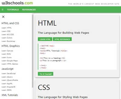 W3 css demos for Table design w3schools