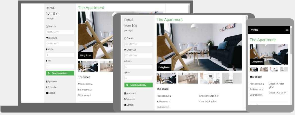 Apartment Rental Template