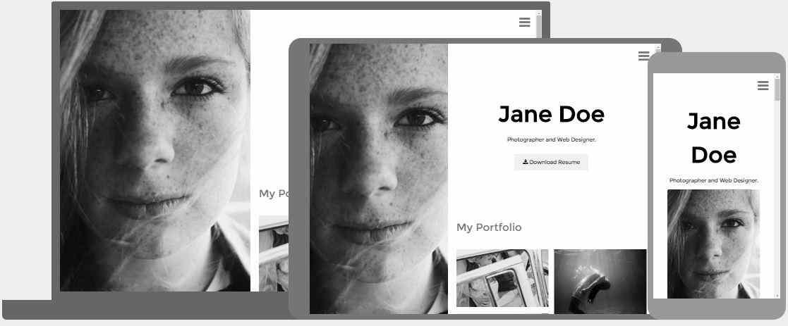 Black and White Portfolio Template